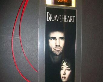 BRAVEHEART Mel Gibson Movie Memorabilia Film Cell Bookmark …