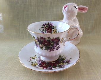Vintage Paragon Flower Festival cup and saucer bone china Tea party
