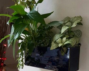 Stainedglass planters/mini garden/hygge handmade glass terrarium/wallart/modern wall planters/succulent wall garden/herb planter