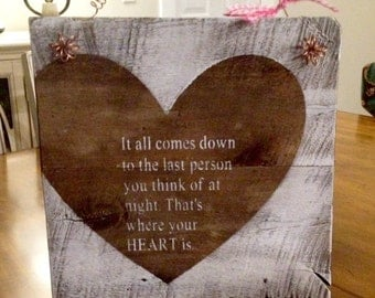 Rustic Barnwood Heart, Valentines, Wedding Sign