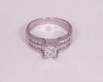 Platinum Princess Cut Diamond Engagement Ring with 2.0 ct. tw., size 7.5