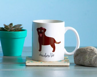 Chocolate Lab Mug (girl)