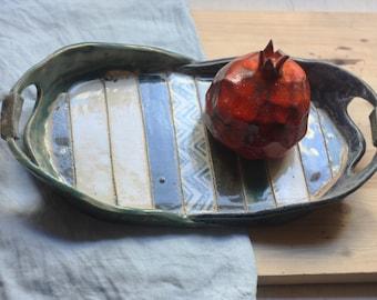 Handmade Ceramic Tray/ Ceramic Salver