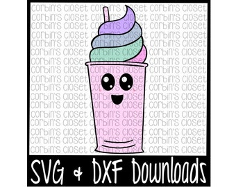 Cup * Hand Drawn * Ice Cream * Float * Drink * Fro-Yo Cutting File - SVG & DXF Files - Silhouette Cameo/Cricut