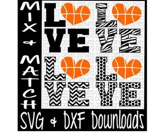 Love Heart Basketball Mix & Match Cutting File - SVG DXF Files - Silhouette Cameo/Cricut