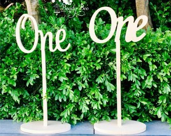 """Wooden Table Numbers 