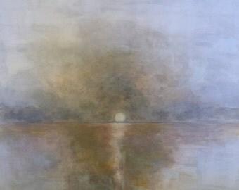 Original Abstract Canvas Art (sunset)