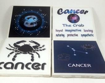 Cancer Zodiac/Tile Coaster/Zodiac Sign/Constellation/Astrology/Horoscope/Cancer Sign/Cancer Astrology/Cancer Horoscope/Astrology Sign/Cancer