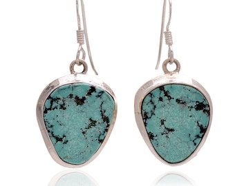 925 Sterling Silver Turquoise Gemstone Earring Jewelry