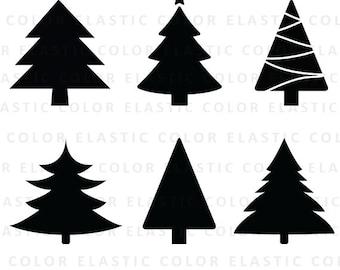 Christmas tree svg - christmas tree clipart - christmas tree cut file  svg, dxf,eps