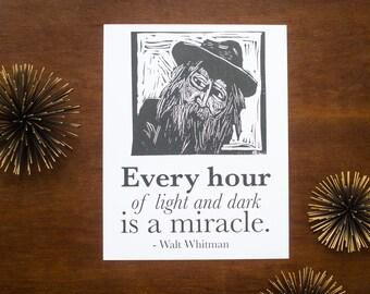 Walt Whitman Quote Art Print