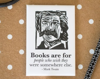 Mark Twain Literary Kitchen Magnet