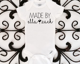 Made by onesie, personalized onesie, baby onesie, baby clothing
