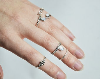 Ritual set Midi Rings boho style 9 pieces