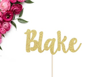 Personalized Name Cake Topper | Birthday Cake Topper | Custom Name Cake Topper | Birthday Party Decor | Custom Glitter Word Cake Topper