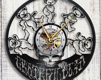 Grateful Dead Vinyl LP Record Wall Clock