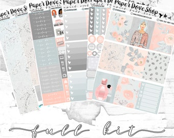 April Vertical-- ECLP Vertical, Decorative Stickers, Planner Stickers, Pastel Kit
