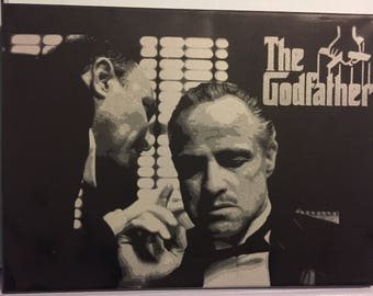 Spray painted (original) god father scene