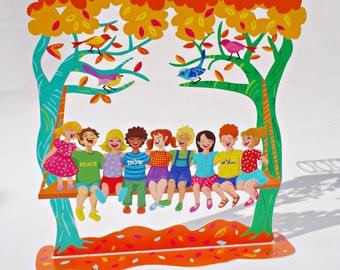The Children Hanukkah Menorah