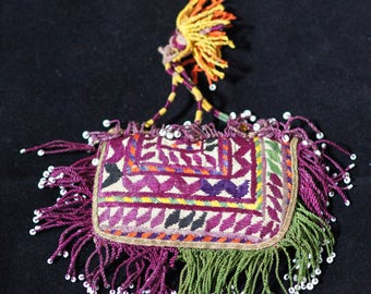 Ethnic Embroidery Amulet Talisman Afghanistan T 217