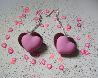 Valentine hearts earrings
