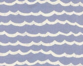 Cotton + Steel – Kujira & Star by Rashida Coleman Hale, Waves - Fog