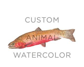 Custom Animal Watercolor