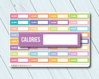 Calories Planner Stickers - Fillable Tracker - Erin Condren Life Planner - Happy Planner - Weight Loss - Nutrition - Cals - Matte or Glossy