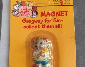 Vintage 1980's Get Along Gang magnet/ Porcia Porcupine/ American Greetings Collection