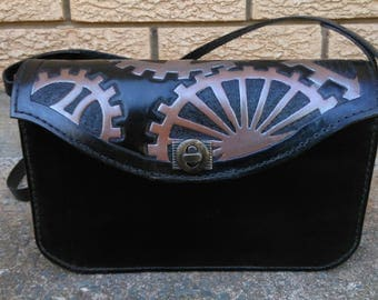 Anima Antics 'Cogged Out' Leather Hand Bag - One of a Kind
