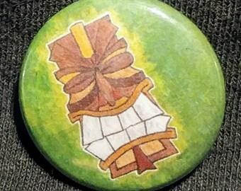 Toothy Tiki Pinback Button