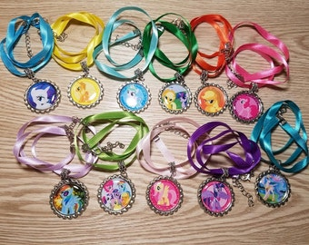 10 Pony Necklaces Party Favors