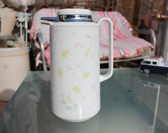 1985 - 1990 - Corelle Compatibles Thermique Coffee Thermos - Pastel Bouquet - Good Condition