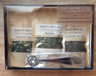 Green Tea Collection, Akron House Hand-Blended Loose Leaf Tea