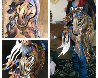 Horse metal art | Etsy