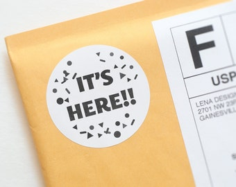 Happy Mail Stickers - Packaging Sticker - Fun Stickers - Snail Mail - Product Packaging Label - Envelope Seal - Packaging Design - Stickers
