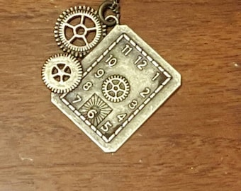 Gear Clock Necklace