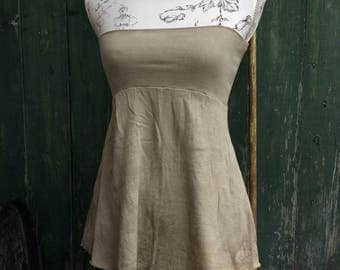 organic ~minta~ bandeau in hue sand top size xs-s