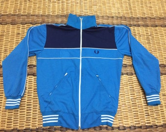 Vintage 90's Fred Perry Sport Classic Design Skate Sweat Shirt Sweater Varsity Jacket Size L #A587