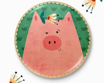 Piggy - Original pocket mirror