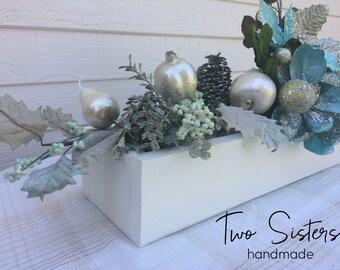 Winter Wonderland Tablescape Planter Box Centerpiece - BOX ONLY!