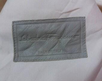 Rare Salvatore Ferragamo long jacket/cream/made in italy/luxury jacket/milan/milano