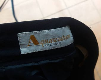 Vintage Aquascutum casual pants soft/blue/waist 26/made in japan/japan branded
