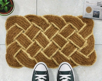 Vintage hand knotted doormat - 75x45cm - Vintage Home Accessory