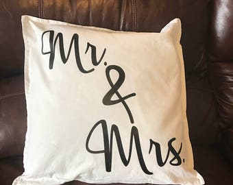 Mr. & Mrs pillow