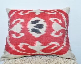 Eye of the Dragon. Red ikat pillows