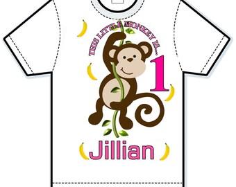 This little monkey birthday shirt