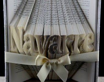 Housewarming Gift, Custom Folded Book Art Sculpture Housewarming Present, New Home Gift, New Home Housewarming Present, Gift For Couple.