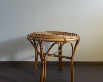 Table 1 rattan tray, 1960s vintage