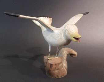 Carved and Painted Seagull from Nova Scotia